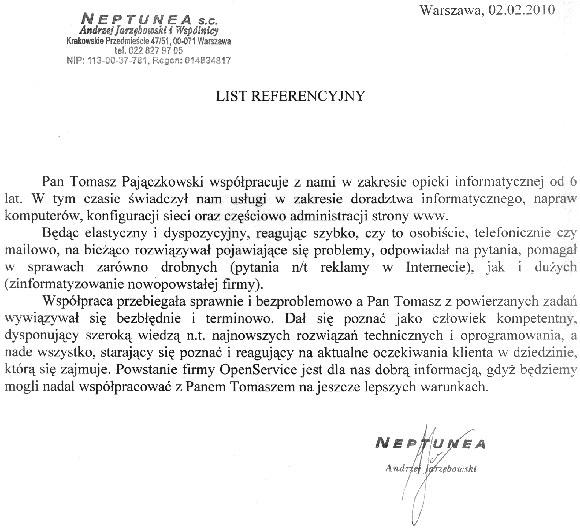 Referencja-Neptunea